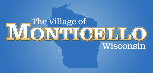 Logo of the Village of Monticello WI