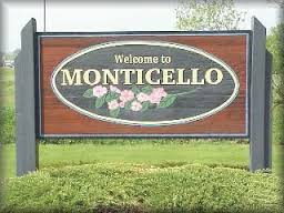 Welcome to Monticello sign